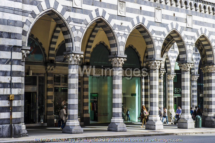 Galleria Mazzini, Genoa, Liguria, Italy, Europe