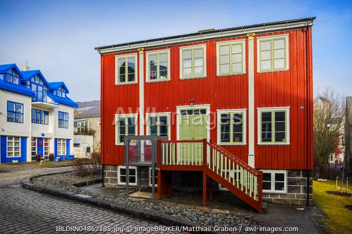 Gröndalshaus, former residence of Benedikt Gröndal, Icelandic writer and scientist, Reykjavik, Höfuðborgarsvæðið, Iceland, Europe