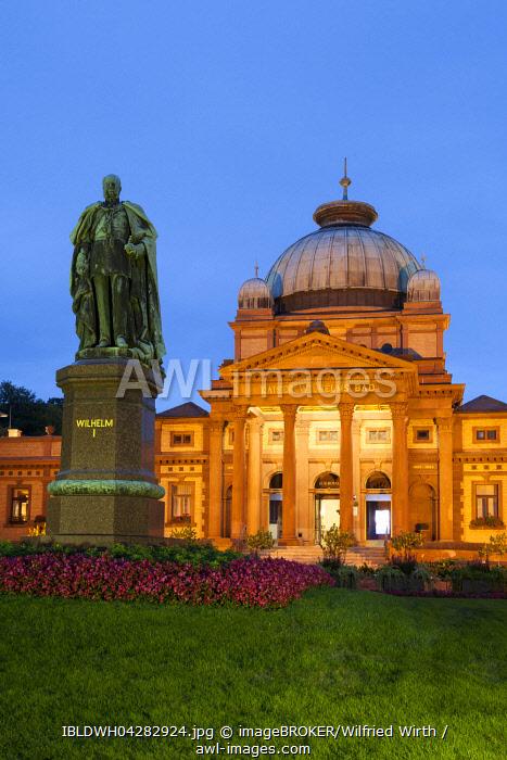 Kaiser-Wilhelms-Bad, Memorial to Kaiser Wilhelm I, spa garden, Bad Homburg, Hesse, Germany, Europe