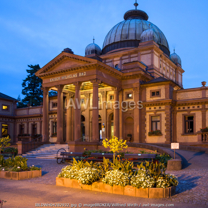 Kaiser-Wilhelms-Bad, spa garden, Bad Homburg, Hesse, Germany, Europe