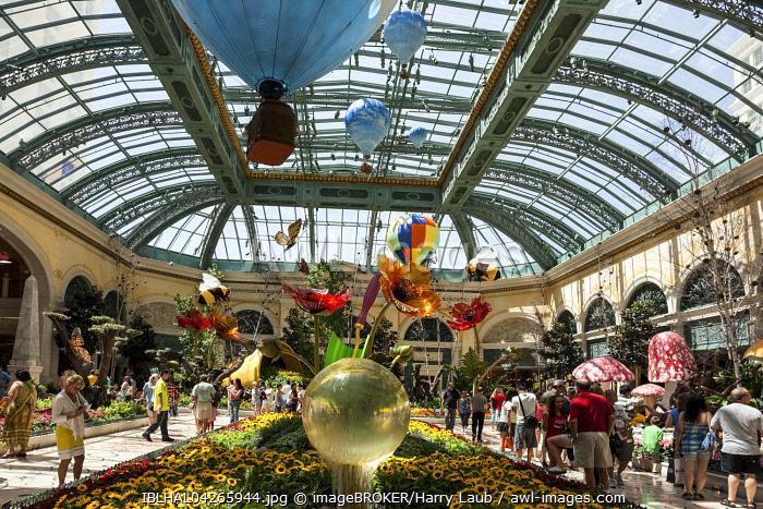 Botanical garden conservatory, Bellagio Hotel, Las Vegas, Nevada, USA, North America