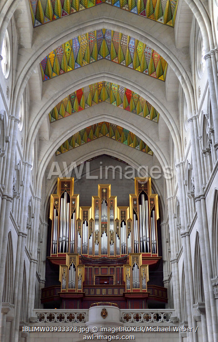 Grenzing organ, Almudena Cathedral, Madrid, Spain, Europe