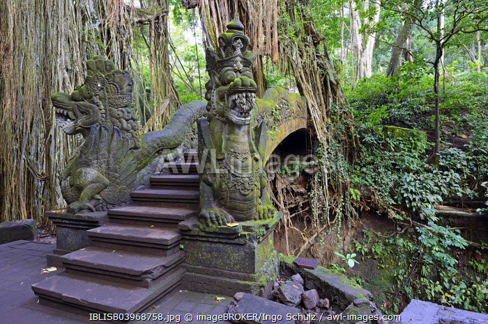 Stairs over the canyon at the Holy Spring Temple, Ubud Monkey Forest, Ubud, Bali, Indonesia, Asia
