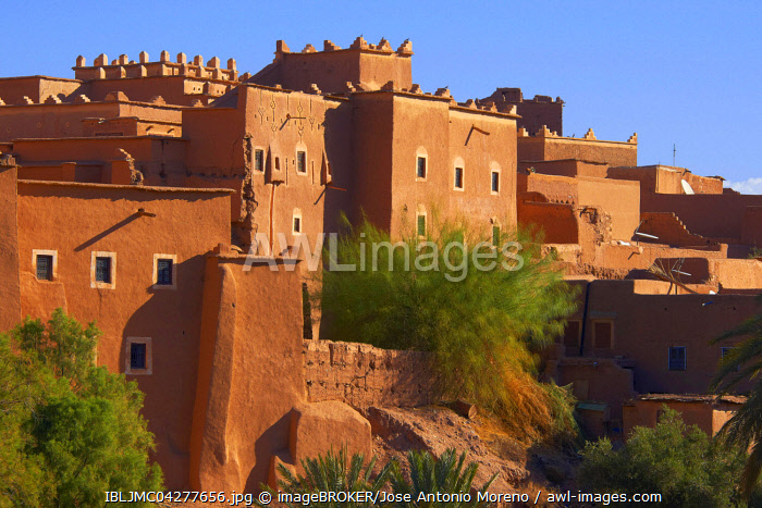Taourirt Kasbah, earthen built by Pasha Glaoui, UNESCO World Heritage Site, Ouarzazate, Ouarzazate Province, Morocco, Africa
