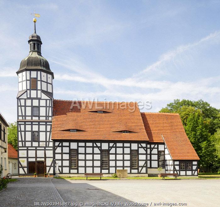 Gutskirche Saathain, timber framed church, Saathain, Brandenburg, Germany, Europe