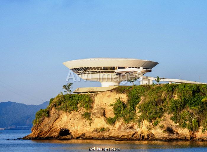 Niteroi Contemporary Art Museum MAC, Niteroi, State of Rio de Janeiro, Brazil, South America