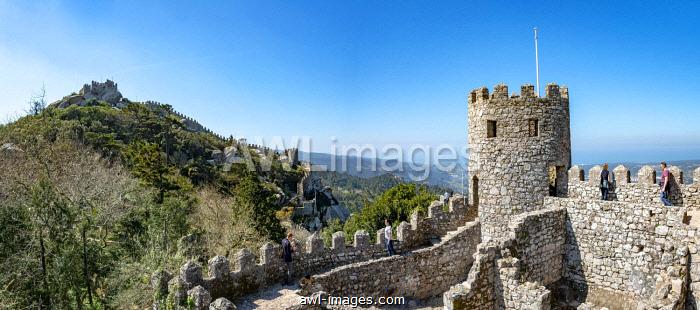 Castle Castelo dos Mouros, cultural landscape Sintra, Sintra, Portugal, Europe