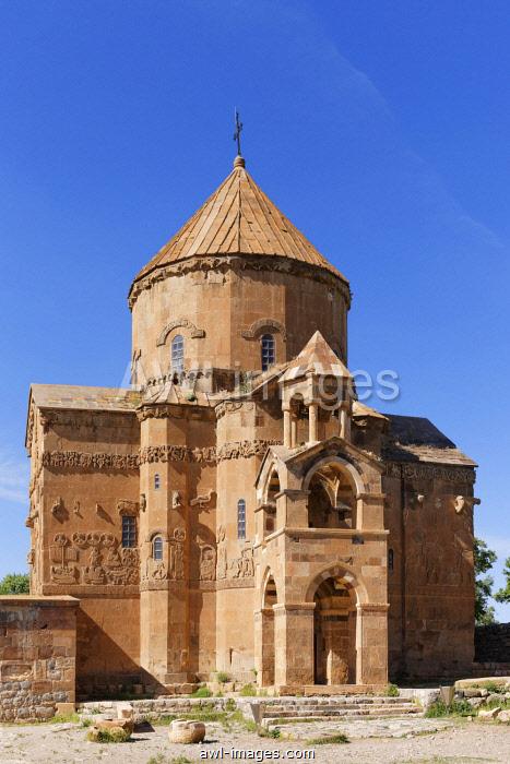 Armenian Church of the Holy Cross, Akdamar, Ahtamar, Akdamar Adas?, Lake Van, Van Province, Eastern Anatolia Region, Anatolia, Turkey, Asia