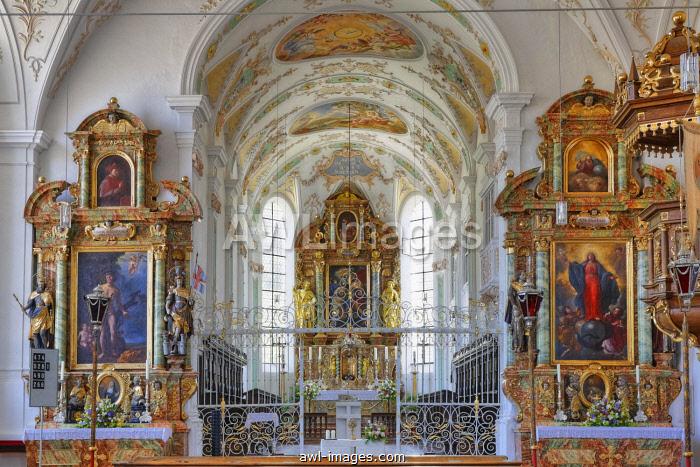 Beyharting monastery church, Tuntenhausen, Upper Bavaria, Bavaria, Germany, Europe