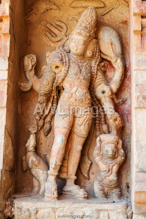 Indian God Shiva, relief, Gangaikonda Cholapuram, Ariyalur, Tamil Nadu, India, Asia