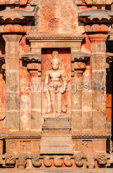 Indian God, bas-relief, Airavatesvara Temple, Darasuram, Tamil Nadu, India, Asia