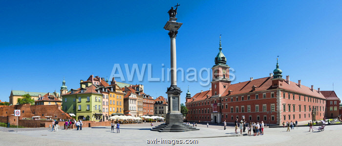 Castle Square, Royal Square with Sigismund column and Royal Castle, historic centre, Warsaw, Mazovia Province, Poland, Europe