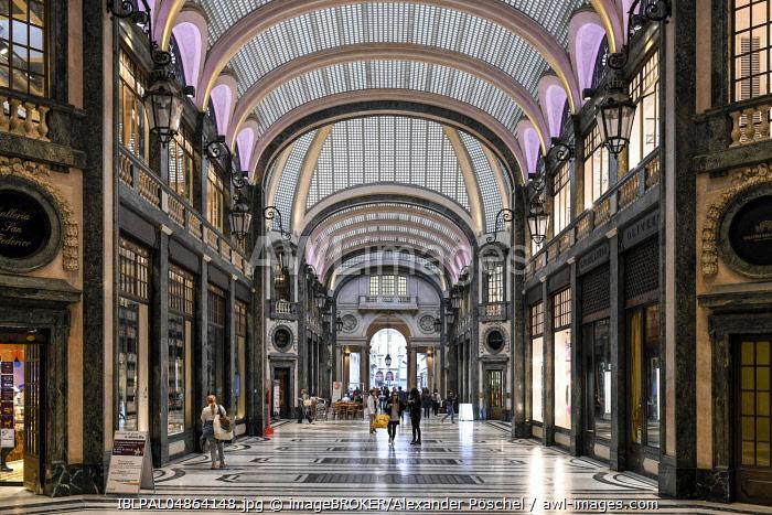 Shopping arcade Galleria San Federico, Turin, Piedmont, Italy, Europe