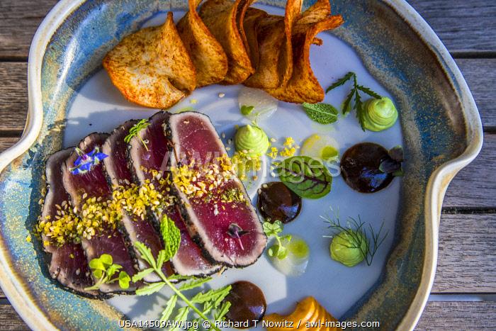 Wilmington, North Carolina, USA. Tuna Tartar at Pin Point Restaurant.