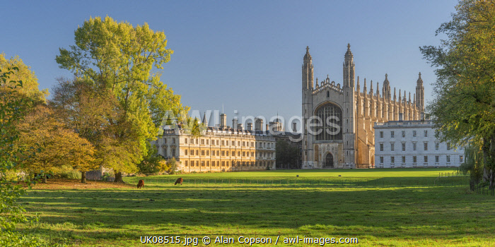 UK, England, Cambridge, The Backs, King's College, King's College Chapel