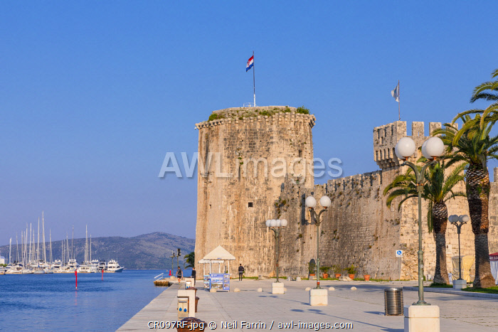 Kamerlengo Fortress, Trogir Harbour, Trogir, Dalmatian Coast, Croatia, Europe