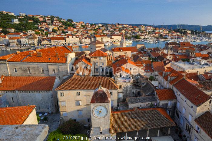 Elevated View Over  Trogir, Trogir, Dalmatian Coast, Croatia, Europe
