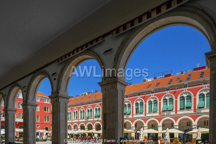 Republic Square, Split, Dalmatian Coast, Croatia, Europe