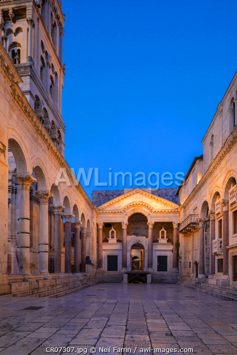 Diocletian's Palace, Split, Dalmatian Coast, Croatia, Europe