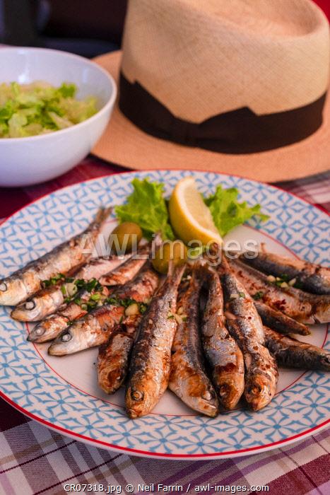 Grilled Sardines, Croatia, Europe