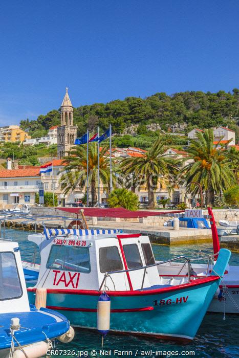 Hvar Town and Harbour, Hvar, Dalmatian Coast, Croatia, Europe