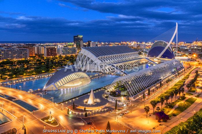 City of Arts and Sciences or Ciudad de las Artes y las Ciencias, Valencia, Comunidad Valenciana, Spain