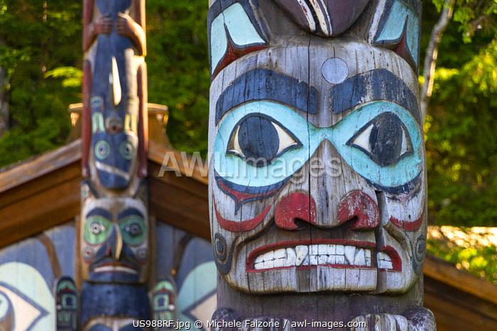 USA, Alaska, Ketchikan, Totem Bight National Historic Park