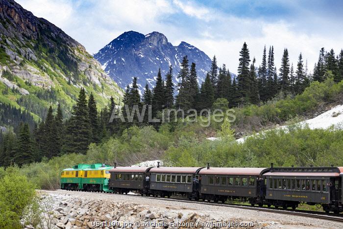 USA, Alaska, Skagway, historic White Pass Railway