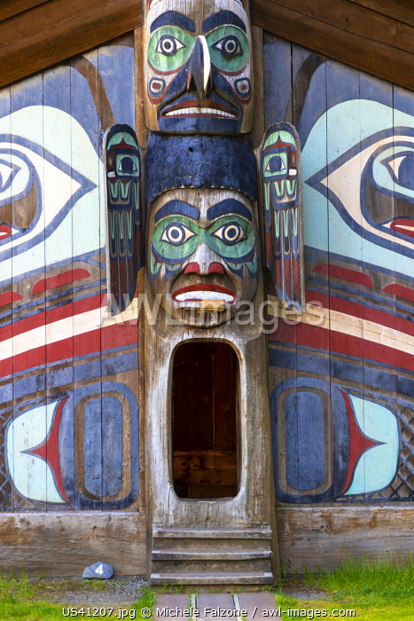 USA, Alaska, Ketchikan, Totem Bight National Historic Park