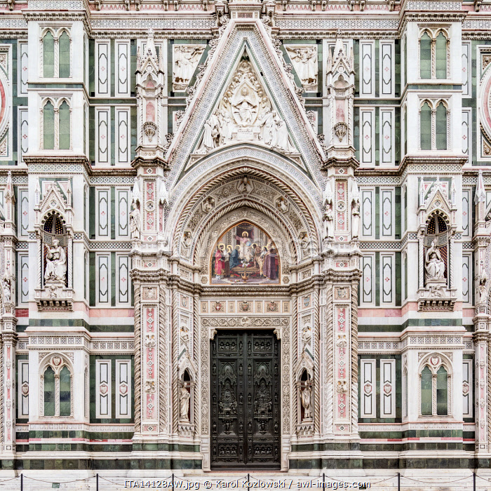 Santa Maria del Fiore Cathedral, detailed view, Florence, Tuscany, Italy