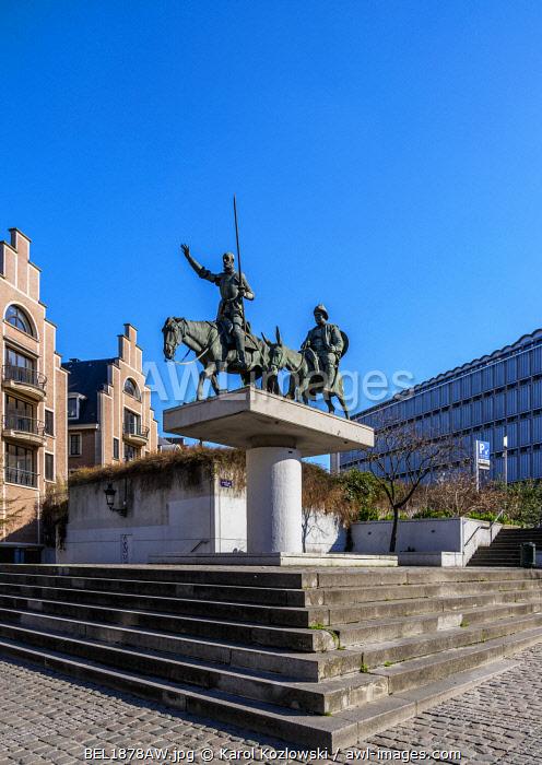 Don Quixote Monument at Spanish Square, Brussels, Belgium