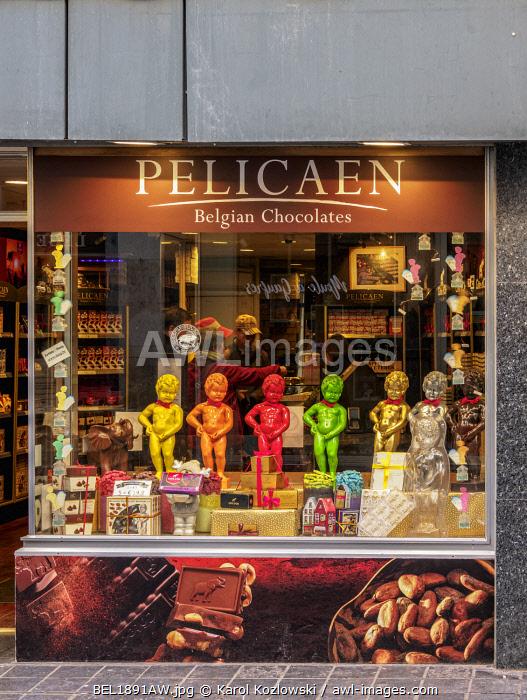 Pelicaen Belgian Chocolates Shop, Brussels, Belgium