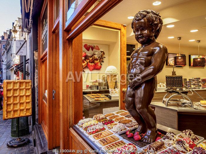 Chocolate Manneken Pis, Brussels, Belgium