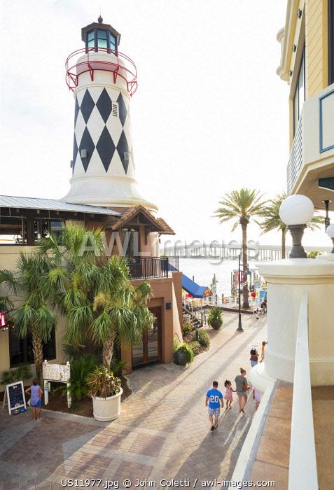 USA, Florida, Destin, Destin Harbor Boardwalk, Panhandle, Emerald Coast, Gulf Of Mexico