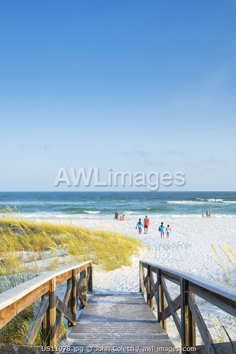 USA, Florida, Destin, Norreigo Point Beach Park, Panhandle, Emerald Coast, Gulf Of Mexico
