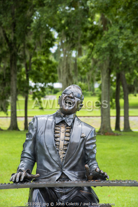 USA, Florida, Greenville, Ray Charles Memorial, Bronze Statue, Haffye Hayes Park, Hometown