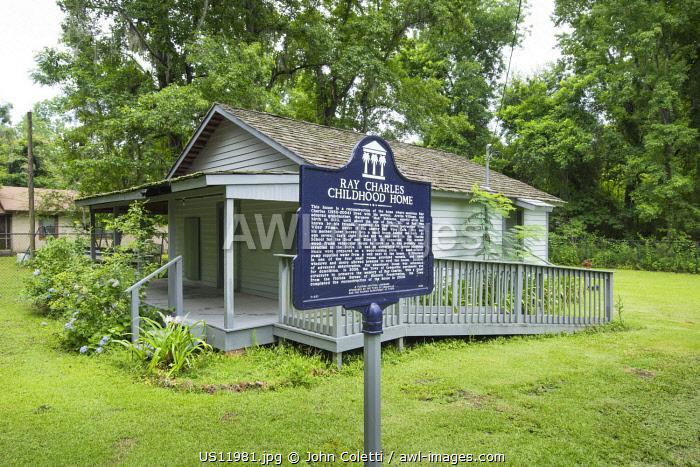 USA, Florida, Greenville, Ray Charles Childhood Home, Hometown, Florida Heritage Landmark
