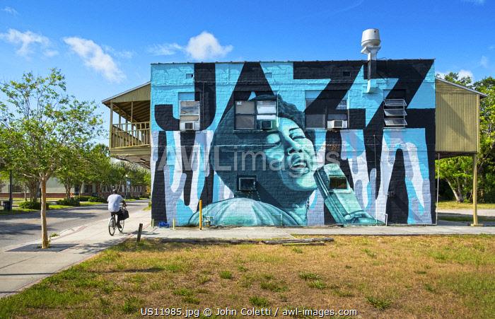 USA, Florida, Saint Petersburg, Ella Fitzgeral Wall Mural, Great Jazz Singer, African-American Heritage Trail, The Deuces Neighborhood