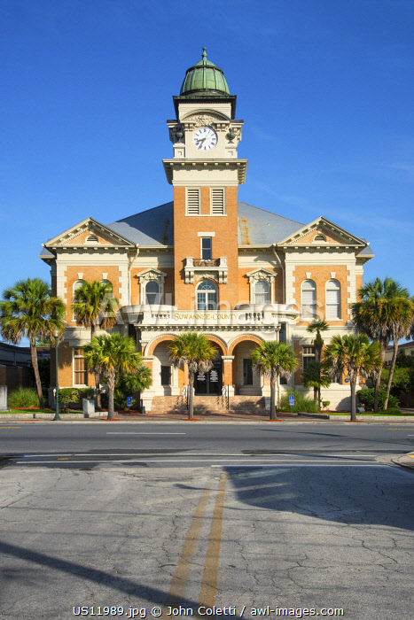 USA, Florida, Live Oak, Suwannee County Courthouse, Renaissance Revival Architectural Style, U.S. National Register Of Historic Places