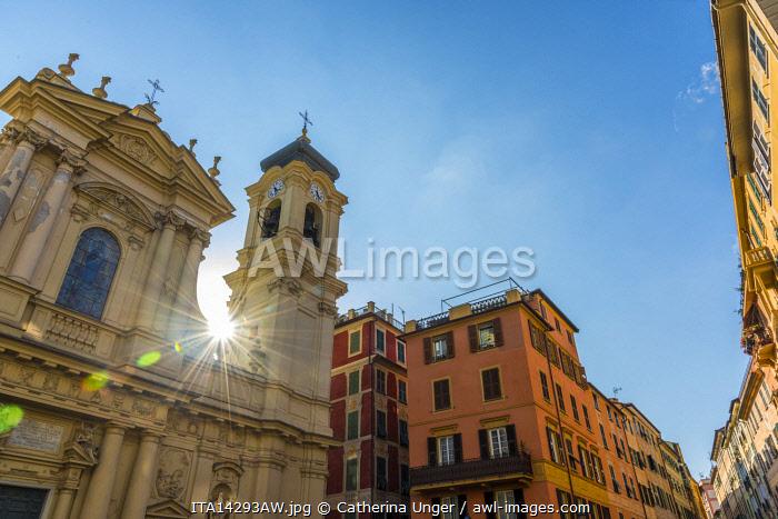 europe, Italy,Liguria. the church of Santa Margherita Ligure