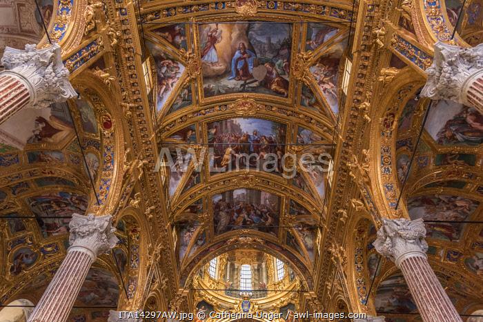 Europe, Italy,Liguria. Genoa, inside the basilica Santissima Annunziata del Vastato