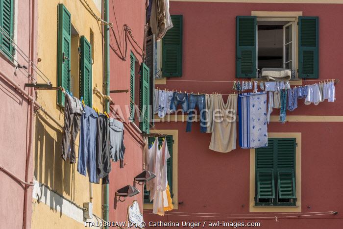 europe, Italy,Liguria. Genoa, a street scene of Boccadasse