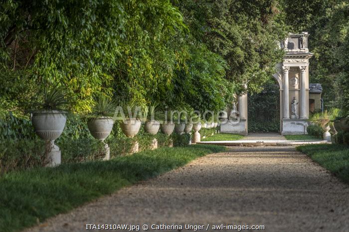 europe, Italy,Liguria. Genoa, Villa Durazzo Pallavicini, Pegli