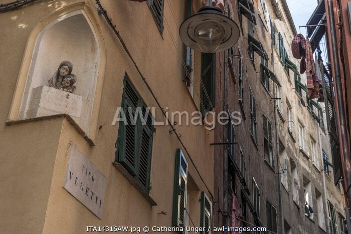 europe, Italy,Liguria. Genoa, a street scene in the medieval centre