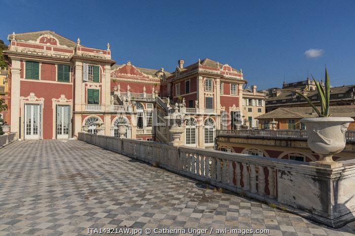 europe, Italy,Liguria. Genoa, the royal palace of Genova