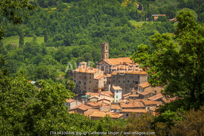 Europe, Italy, Tuscany. The old village of Sasso Pisano.