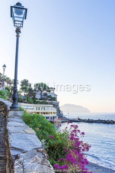 Europe, Italy, Liguria. Bogliasco in the morning light.