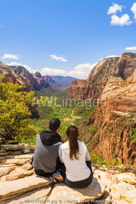 awl-images.com - USA / Zion Canyon from Angels landing Zion National Park, Utah, USA,