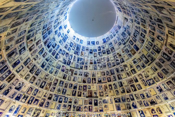 awl-images.com - Israel / The Hall of Names, containing Pages of Testimony commemorating the millions of Jews who were murdered during the Holocaust, Yad Vashem, Jerusalem, Israel.