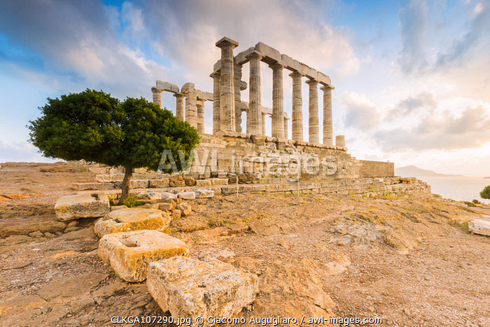 awl-images.com - Greece / Temple of Poseidon, Cape Sounion, Attica region, Greece (MR)
